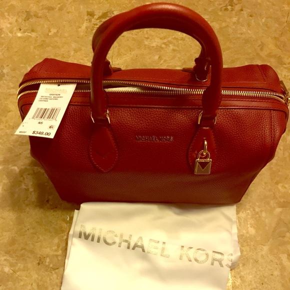 8d08b51a4254 ... cheap authentic michael kors grayson leather satchel d39bf dd65d